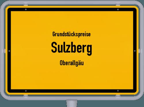 Grundstückspreise Sulzberg (Oberallgäu) 2019