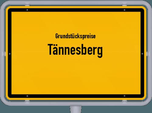 Grundstückspreise Tännesberg 2019