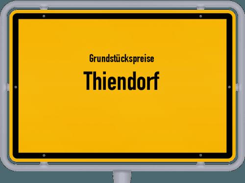 Grundstückspreise Thiendorf 2019