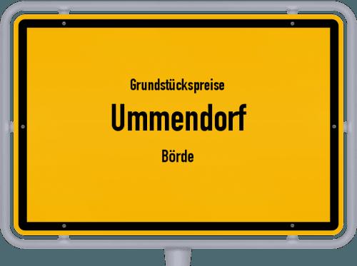 Grundstückspreise Ummendorf (Börde) 2021