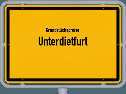Grundstückspreise Unterdietfurt 2021