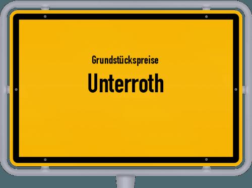 Grundstückspreise Unterroth 2019