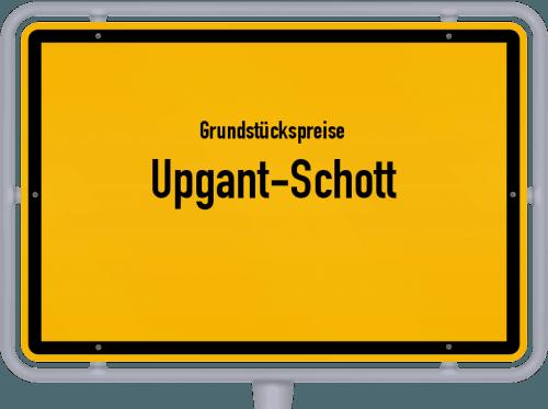 Grundstückspreise Upgant-Schott 2021