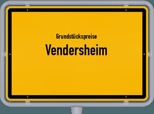 Grundstückspreise Vendersheim 2019