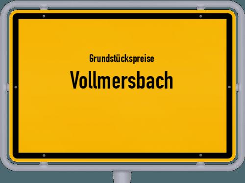 Grundstückspreise Vollmersbach 2019