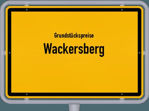 Grundstückspreise Wackersberg 2019