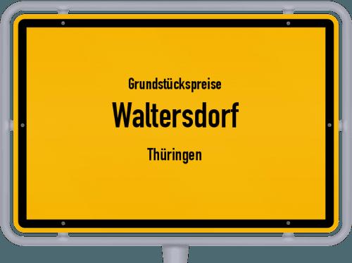 Grundstückspreise Waltersdorf (Thüringen) 2019
