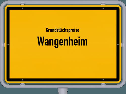 Grundstückspreise Wangenheim 2019