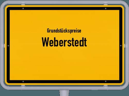 Grundstückspreise Weberstedt 2019