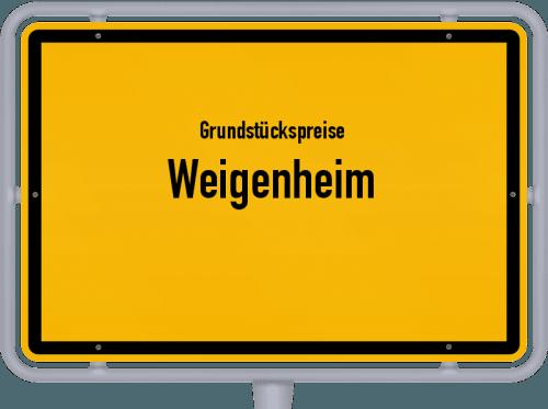 Grundstückspreise Weigenheim 2019