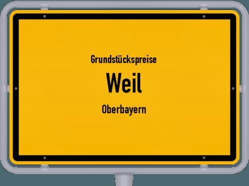 Grundstückspreise Weil (Oberbayern) 2019