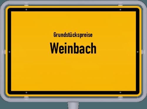 Grundstückspreise Weinbach 2020