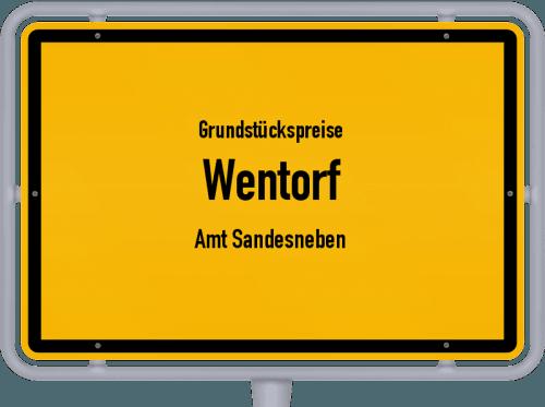 Grundstückspreise Wentorf (Amt Sandesneben) 2021