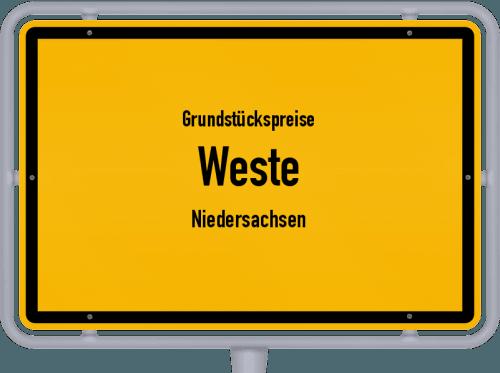 Grundstückspreise Weste (Niedersachsen) 2021