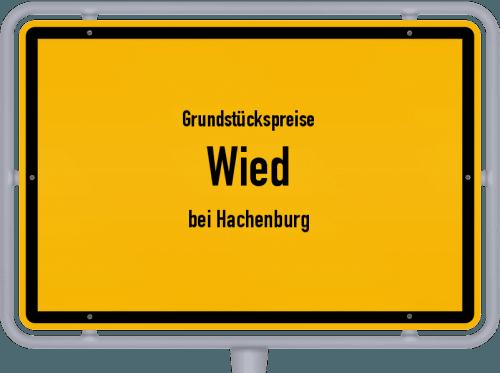 Grundstückspreise Wied (bei Hachenburg) 2019