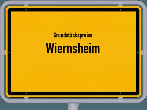 Grundstückspreise Wiernsheim 2021