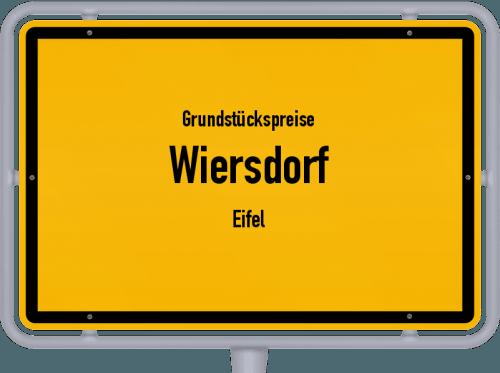 Grundstückspreise Wiersdorf (Eifel) 2019