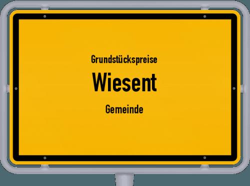 Grundstückspreise Wiesent (Gemeinde) 2019