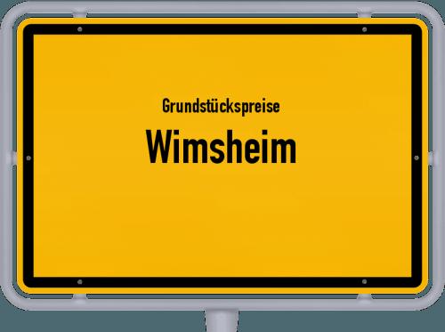 Grundstückspreise Wimsheim 2021