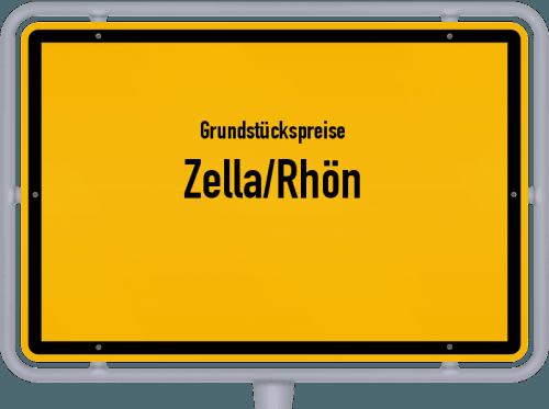 Grundstückspreise Zella/Rhön 2019