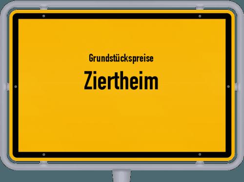 Grundstückspreise Ziertheim 2019