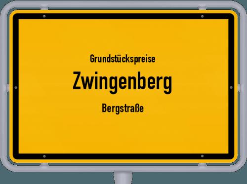 Grundstückspreise Zwingenberg (Bergstraße) 2019