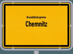 Die Grundstückspreise in Chemnitz, Ortsschild von Chemnitz