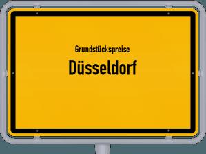 Die Grundstückspreise in Düsseldorf, Ortsschild von Düsseldorf
