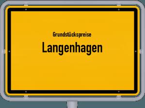 Die Grundstückspreise in Langenhagen, Ortsschild von Langenhagen
