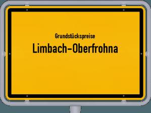 Die Grundstückspreise in Limbach-Oberfrohna, Ortsschild von Limbach-Oberfrohna