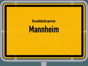 Die Grundstückspreise in Mannheim, Ortsschild von Mannheim
