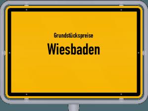 Die Grundstückspreise in Wiesbaden, Ortsschild von Wiesbaden